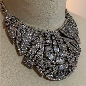 Faux Diamonds Statement Necklace